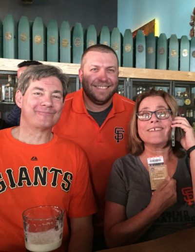 Team Hewins enjoying a Giants game