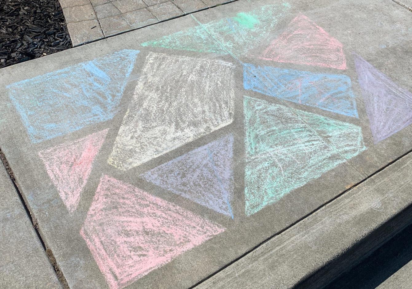 Sidewalk Chalk Art COVID-19