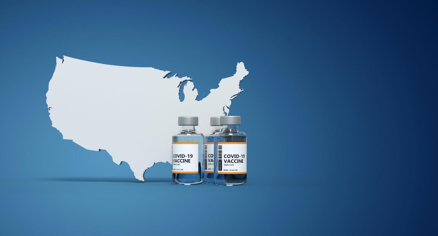 Covid-19 Vaccine bottle - 3D rendering